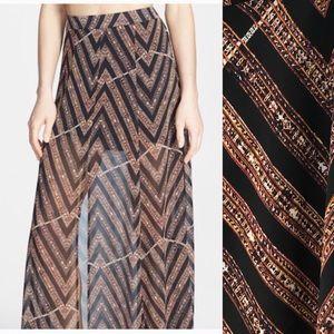 ASTR sheer maxi skirt